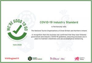 VisitEngland We're Good to Go certificate